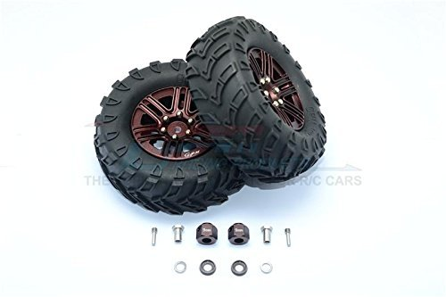 GPM Traxxas TRX-4 Trail Defender Crawler Aggiornamento Parti 1.9  Aluminium 6 Spokes BBS Rims with Onroad Tires And 9mm Thick Alloy Hex - 1Pr Set Marronee
