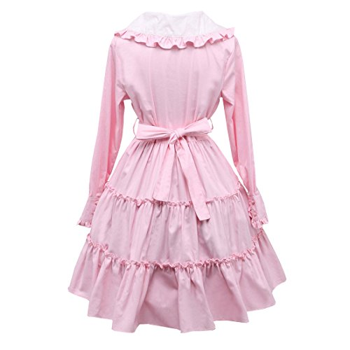 Damen Rosa Herren Multi Partiss Layer Gotisches Kleid Lolita Langarm Suesses BdWWRn5wz7
