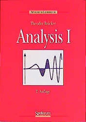 Analysis, Bd. 1