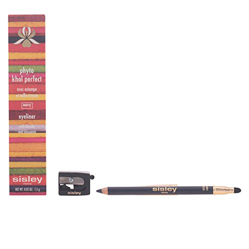 0.05 Ounce Khol Pencil (Sisley Perfect Eyeliner with Blender and Sharpener, Navy, Phyto Khol, 0.05 Ounce)