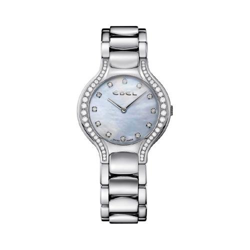 Ebel Beluga Ladies Mother of Pearl Diamond Watch Model 1215855 Beluga Ladies Wrist Watch