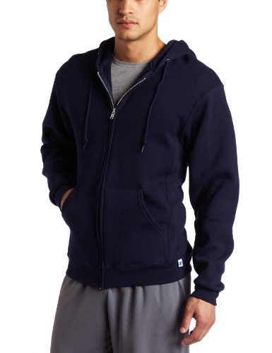 [Russell Athletic Men's Dri-Power Hooded Zip-up Fleece Sweatshirtie, Navy, 3X-Large] (Big Mens Hoodie)
