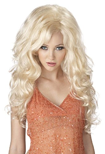 8eighteen Bombshell Women Costume Wig Dolly Parton Video Vixen (Blonde) (Mermaid Wig In Blonde)