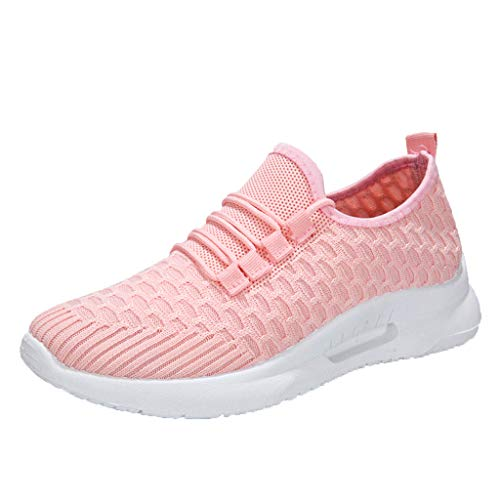 (Fitfulvan Casual Couple Shoes Fashion Harajuku Light Breathable Student Shoes Ladies Sneakers Breathable Sport Shoes Pink)