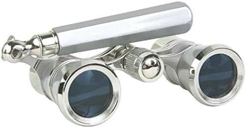 LaScala Optics 3x25 Iolanta Opera Glasses Platinum/Silver