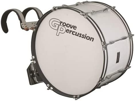 Groove Percussion MBD1222W 12x22 Marching Bass Drum with Vest Carrier