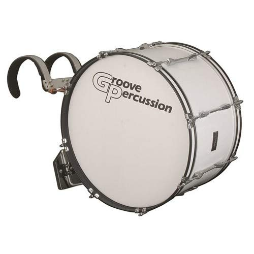- Groove Percussion MBD1222W 12x22 Marching Bass Drum with Vest Carrier