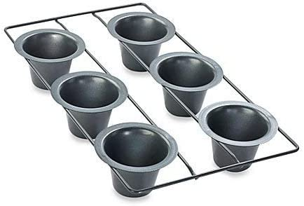 Amazon Com Chicago Metallic Professional 6 Cup Popover Pan With Armor Glide Coating Kitchen Dining