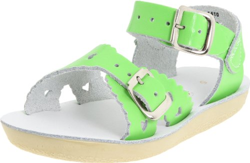 Salt Water Sandals by Hoy Shoe Sweetheart,Lime Green,6 M US Toddler