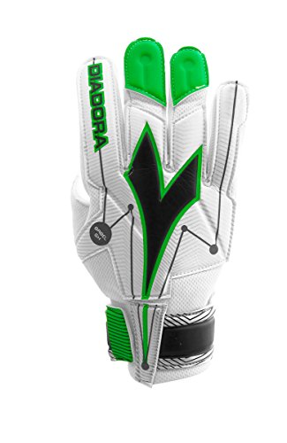 黒くする貧困破壊(6, White / Green) - Diadora Babel Soccer Goalkeeper Glove