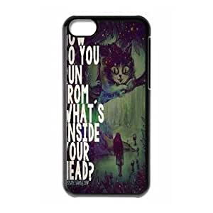 Hjqi - DIY We're All Mad Here Phone Case, We're All Mad Here Personalized Case for iPhone 5C