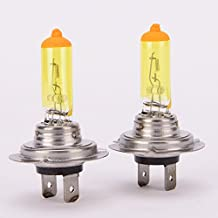 1 Pair 12V 100w H7 Hyper Yellow 2600k Xenon Gas HID High Beam Headight Bulbs