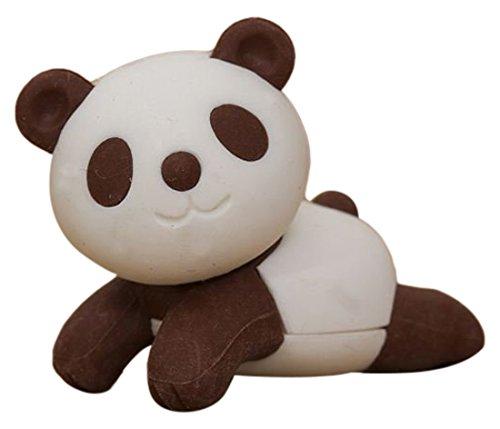 Panda Eraser - Iwako Brown Panda Bear Eraser by from Japan