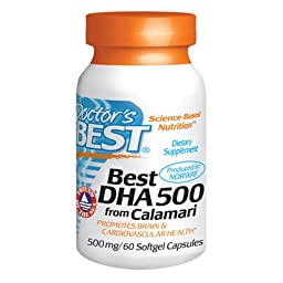Doctors Best BEST DHA 500 FROM CALAMARI 500 MG Softgels