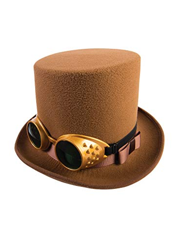 Forum Novelties Brown Steampunk Hat with Goggles -