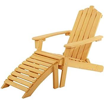 Amazon Com Giantex Folding Adirondack Chair Wood Log