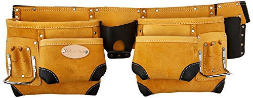 Style n Craft 93-428 10 Pocket Top Grain Tool Belt