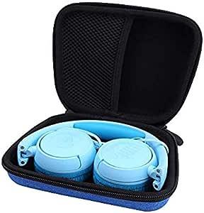 Aenllosi Hard Carrying Case for JBL JR 300BT/ JR 300/ Kids On-Ear Wireless Headphones (Blue)