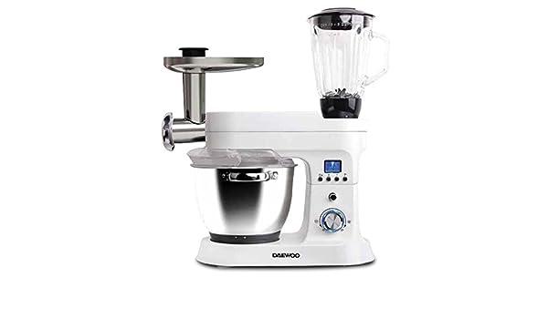 Daewoo DSX-5085 - Robot de cocina (5 L, Blanco, Botones, Giratorio, 1,5 L, De plástico, De plástico, Acero inoxidable): Amazon.es: Hogar
