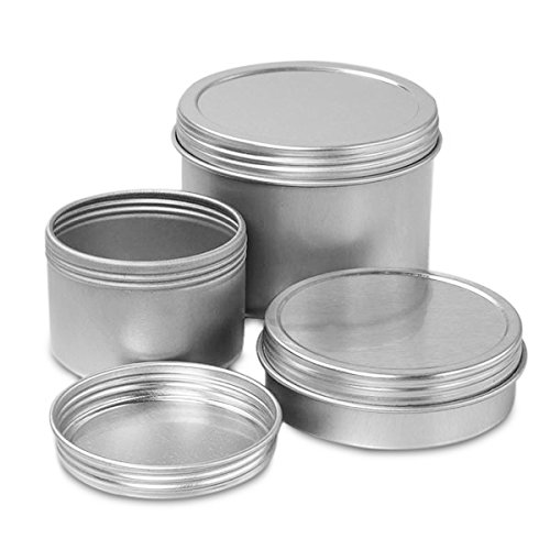1 X Screw Top Round Steel Tins, 2oz (12 Per Pack)