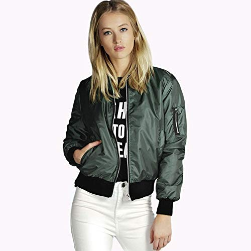 Zogaa Autunno Per Ladies Size Donna Casual Giacche Windbreaker 2018 Cappotti Green Giacca E Yhxmg Plus Short Jacket Solid Cappotto 7Ipwqtt