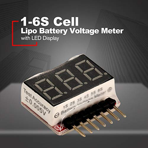 1-6S Cell Lipo Lithium Battery Voltage Monitor Safe Meter RC Test LED Displ  P