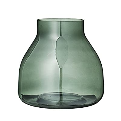 Bloomingville Small Green Glass Vase - Colors: Green Materials: glass Measurements: 7.75L x 7.5H x 7.75W - vases, kitchen-dining-room-decor, kitchen-dining-room - 41jFawM7P2L. SS400  -