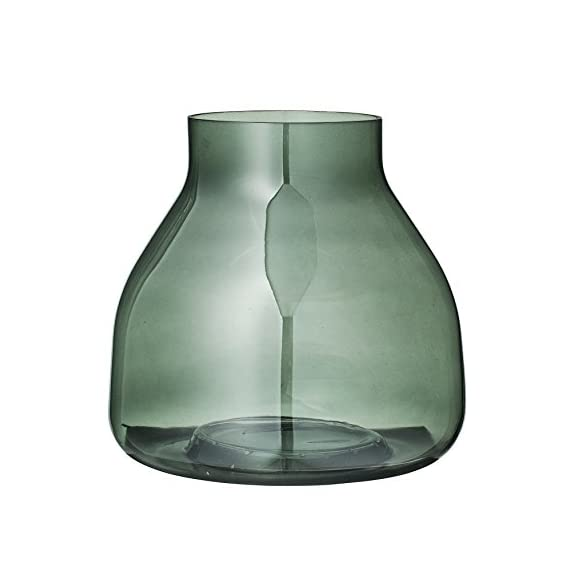 Bloomingville Small Green Glass Vase - Colors: Green Materials: glass Measurements: 7.75L x 7.5H x 7.75W - vases, kitchen-dining-room-decor, kitchen-dining-room - 41jFawM7P2L. SS570  -