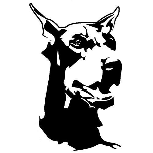 KGTHSS Dobermann heftige Hound Avatar wechseln Aufkleber Classic Mode kreativ Dekorative Aufkleber 2 SS 0130