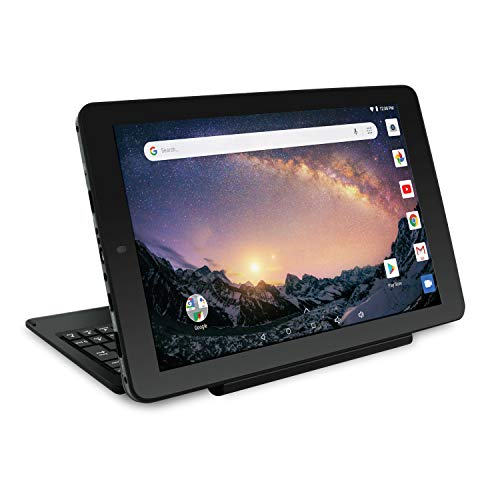 "RCA Galileo 11.5"" 32 GB Touchscreen Tablet Computer with Keyboard Case Quad-Core 1.3Ghz Processor 1GB Memory 32GB HDD Webcam Wifi Bluetooth Android 8.1 - Charcoal"