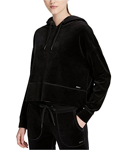 Calvin Klein Performance Women's Cropped Velour Hoodie (Small, Black) by Calvin Klein