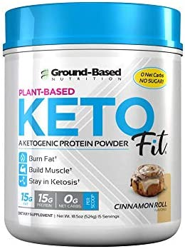 Ground Based Nutrition, Protein Powder Ketogenic Plant Based Cinnamon Roll, 18.5 Ounce 3