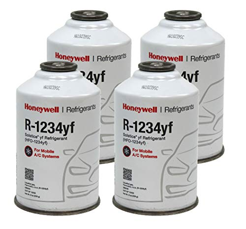 Honeywell R1234YF AC Refrigerant for Mobile Systems Solstice HFO-1234YF (4)  8oz Cans