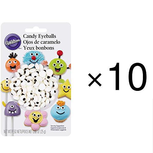 10 x Wilton Edible Sugar Candy Eyeballs Eye Cake Cupcake Decorating Decoration -