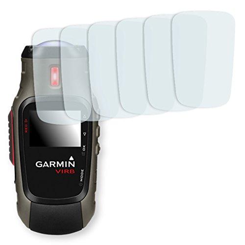 6x Golebo Anti-Glare screen protector for Garmin VIRB Elite (Anti-Reflex, Air pocket free application, Easy to remove)