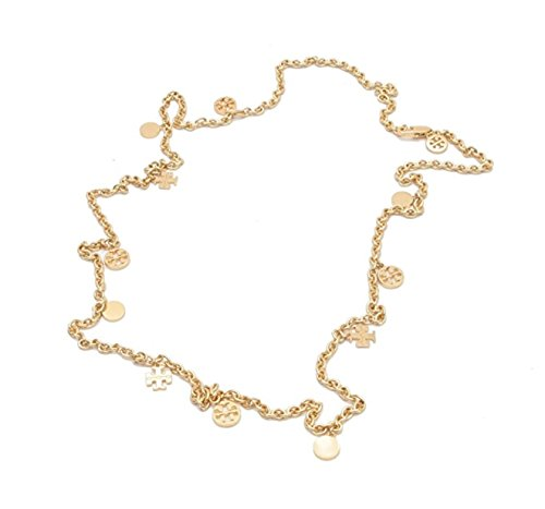 Tory Burch Gold Tone Logo Charm Rosary - Burch Gold Bag Tory