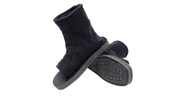 DAZCOS Negro Shippuden Ninja Zapatos (Hombres US 8,5 ...