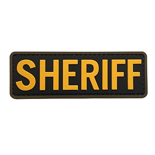 (Sheriff PVC Patch Morale with Hook Fastener by uuKen Tactical Gear)