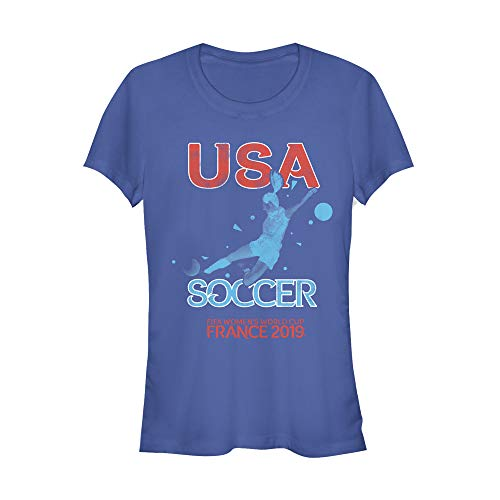 - Fifth Sun Officially Licensed FIFA US Shooter Junior's Crew Tee, Royal, Small