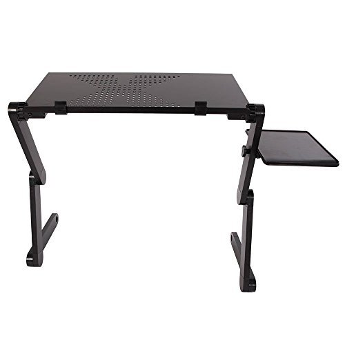 41jFdjxWaiL - Adjustable foldable laptop Notebook High-grade Aluminum alloy Desk Table Stand Bed Tray! #362