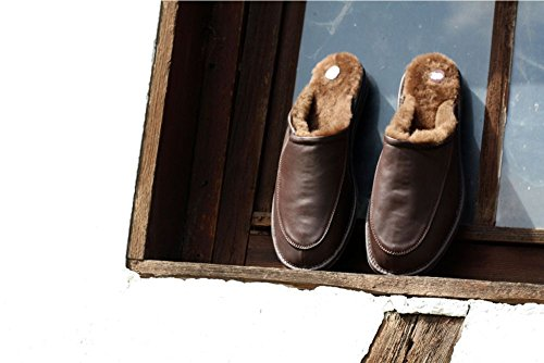Piel de cordero Zapatillas - JAN Hombre Zapatillas Marrón