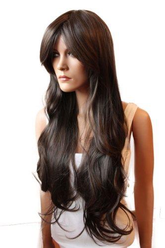 PRETTYSHOP Lady Wig Long Hair Cosplay curled Wavy Brown Brunette Heat-Resistant FP712]()