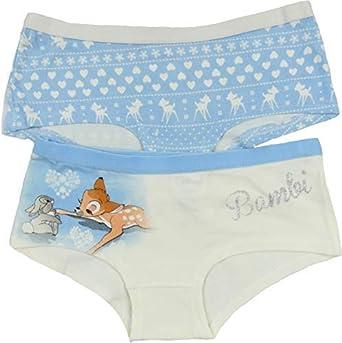 Disney Bambi 2 Pack Girls Short Style Knickers 7//8 9//10 11//12 13 Years