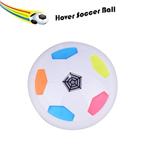 Careshine Hover Soccer Ball with Powerful LED Light Electric Air Power Football Toy for Playing Football Game with Parents Indoor or Outdoor (white) by CARESHINE