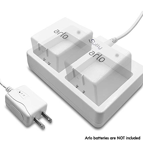 Charger for Arlo Netgear Batteries (2 Ports White) - for Arlo Security Light & Arlo Pro Smart Home Cameras & Arlo Pro 2 & Arlo Go Batteries VMA4410 ALS1101 ALS1101 by Sully