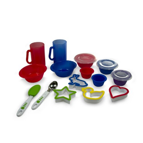 Real Kitchen Tools and Cookbook for Kids - Curious Chef 15-Piece Dessert Set