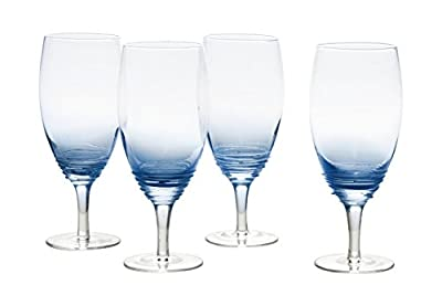 Mikasa Swirl Cobalt Iced Beverage Drinkware (Set of 4), 22 oz, Blue