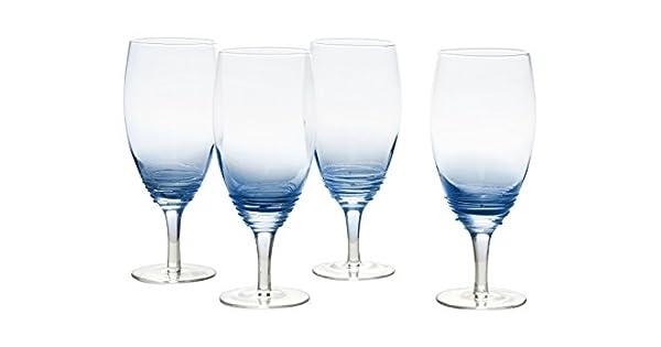 Amazon.com: Mikasa Swirl cobalto helado bebida vaso (juego ...