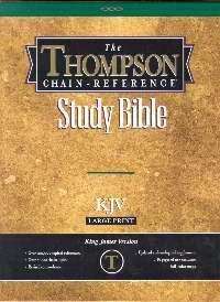 KJV - Burgundy Genuine Leather - Large Print - Thompson Chain Reference Bible (015143)