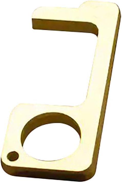 Tragbarer Hygienischer T/ürgriff EDC T/ür/öffner Kontaktloses Reusable Handle Tools Door Opener Knopfwerkzeuge Hubt/ür Artifact T/ür/öffner Aufzug Griff Zubeh/ör One Size, Gold